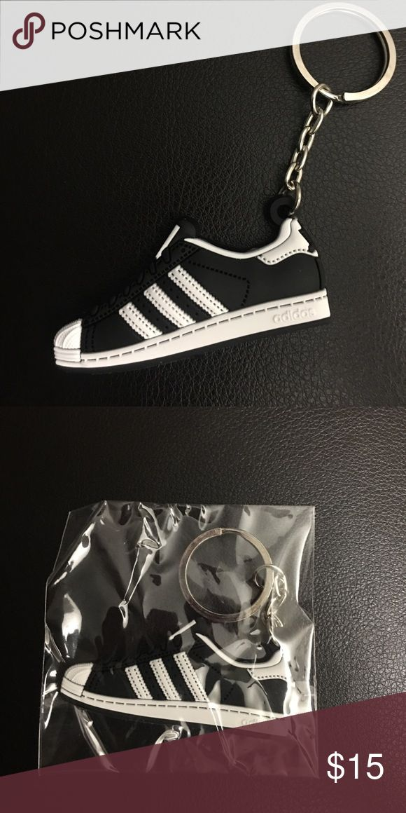 😎 Adidas Shell-toe Keychain Mini silicone Adidas Superstar Shell-tops. Color: Classic Black/ White. Super cool looking, other classic styles available, check out my closet for lots of fun new merchandise, would make an awesome stocking stuffer 🎄 New in package Adidas Accessories Key & Card Holders