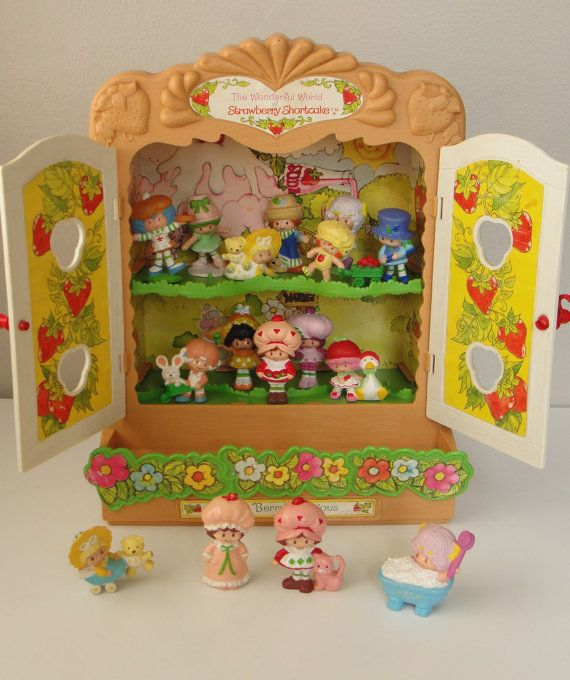 Vintage Strawberry Shortcake Cabinet Cupboard by WhileSJsSleeping, $48.00