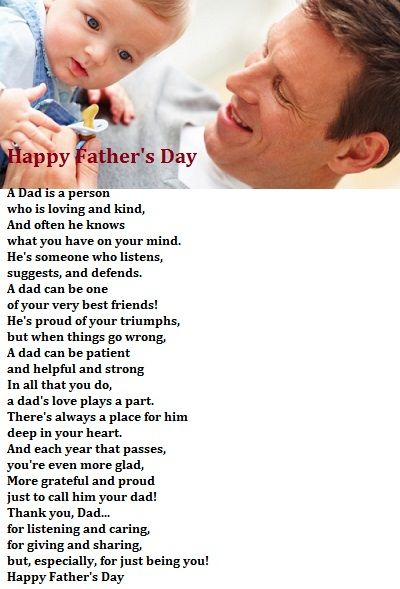 Father Poems With Pictures