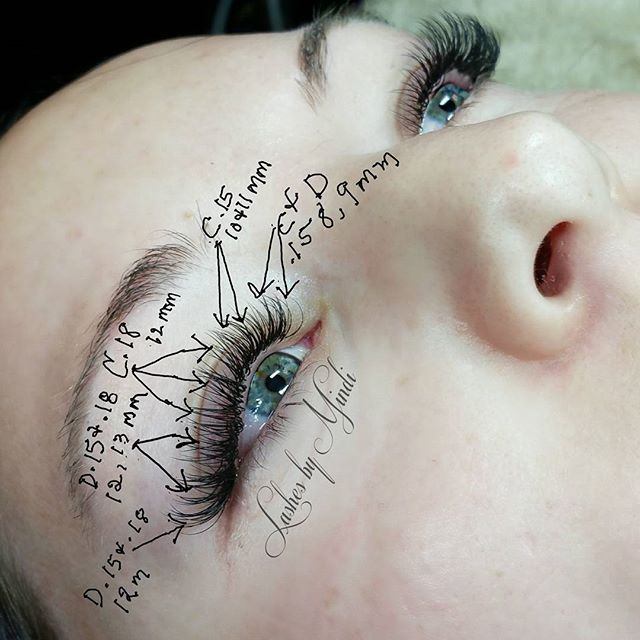 Thought I would share my lash map on this full set today.  Each client I do has their own map. Length,  thickness and curl used depends on each client's lashes and eye shape. One size does not fit all.  #lashmap #lashesbymindi #lashextensions #utahlashes #draperlashes #classiceyelashextensions #classiclashes #eyelashextensions #eyelashes #lashes #draperlashartist #lashaholic #lashart #lashartist #eyelashes #individualeyelashextensions