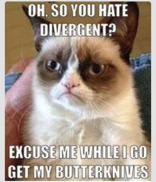 Haha. You will never look at butter knives once you read divergent!!!