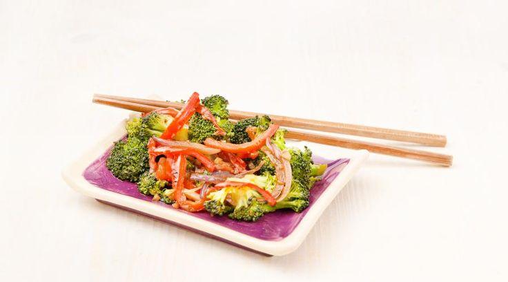 Salteado de verduras asiático