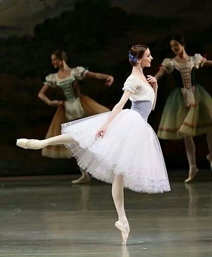 Svetlana Zakharova as Giselle - love the peasant dresses in the background