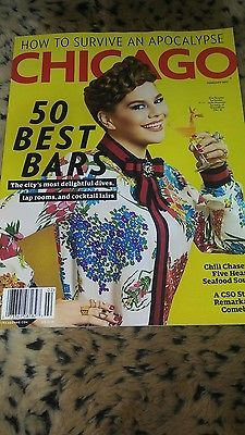 CHICAGO MAGAZINE 50 BEST BARS  FEBRUARY 2017 $0.99 AUCTION FREE SHIPPING!