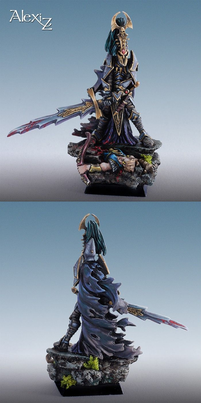 Warhammer Dark Elves Hero Tullaris Commision by Alexi-Z