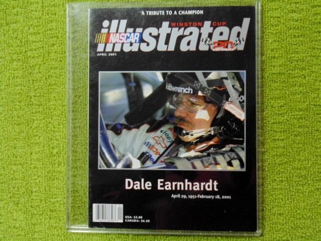 DALE EARNHARDT SR NASCAR ILLUSTRATED A TRIBUTE TO A CHAMPION APRIL 2001