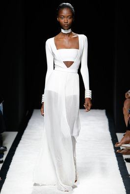 Balmain Spring 2015 Ready-to-Wear Fashion Show: Complete Collection - Style.com choker bit completes the look