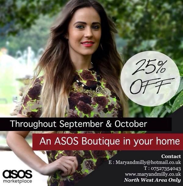 Our home party service is lots of fun! Have an ASOS boutique in your home and get discounts on the entire collection!
