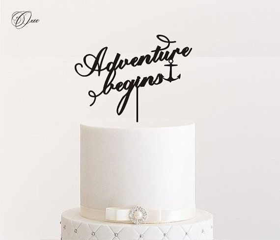 Gold Personalized Wedding Cake Topper