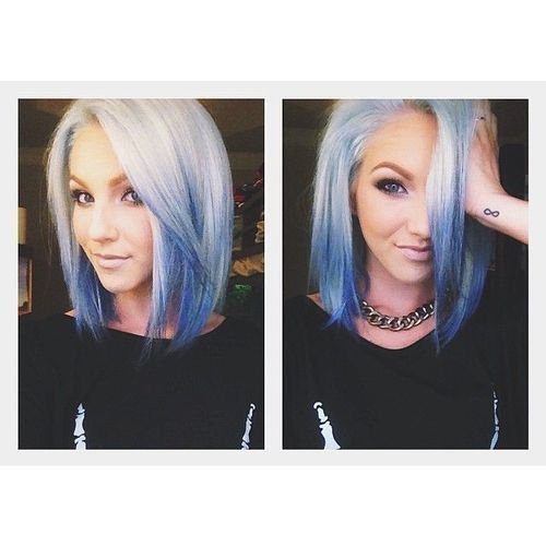 blue ombre hair.