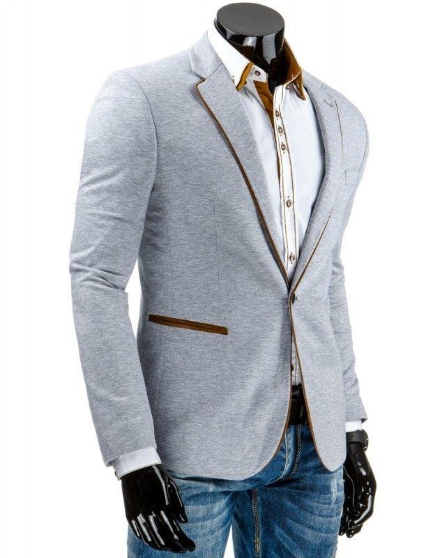 Pánské stylové sako - Telmond, šedé
