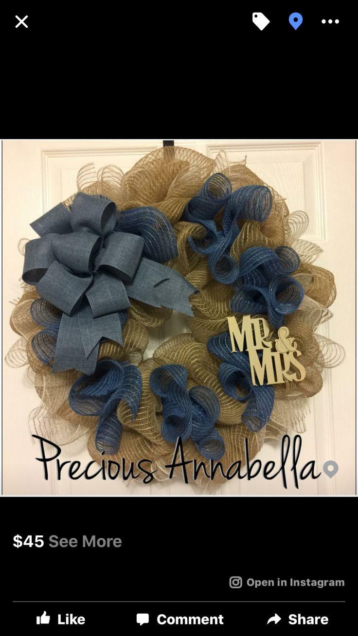 Mr&Mrs wreath$45