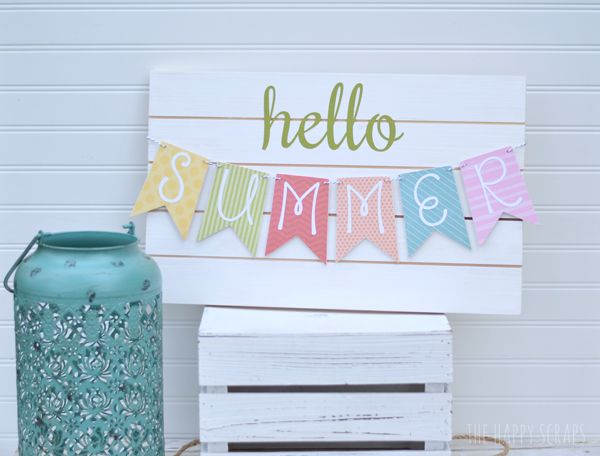 DIY Summer Banner by TheHappyScrapper.com for TodaysCreativeBlog.net