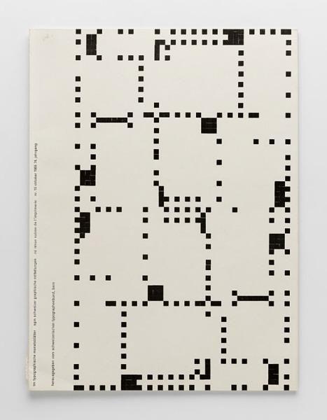 stereo-duophonic: TM Typographische Monatsblätter, issue 10, 1955. Cover designer: Emil Ruder