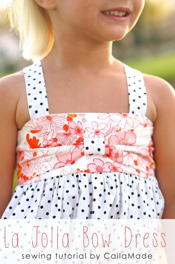 La Jolla bow dress tutorial by CailaMade