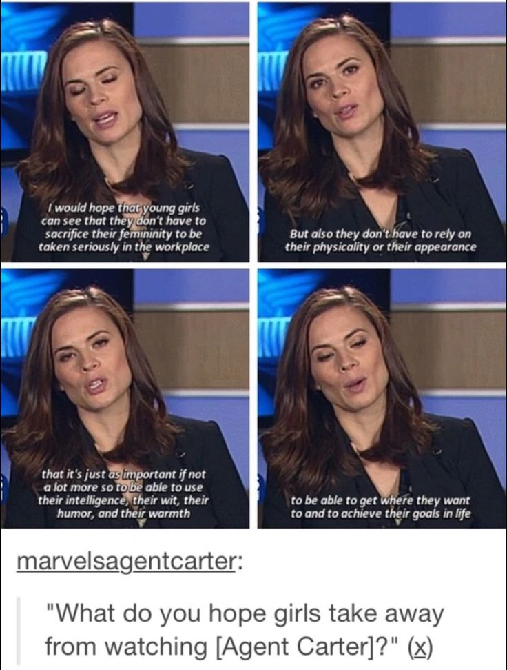 "Hayley Atwell on what she hopes girls take away from ""Agent Carter"""