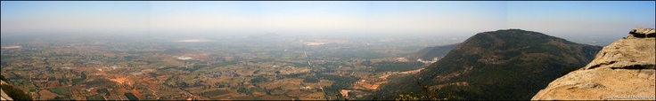 Stitch of View from Nandi Hills, India.
