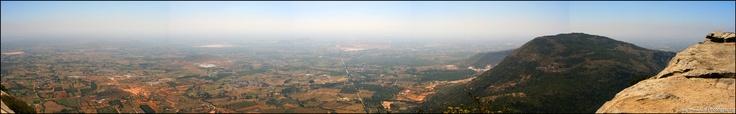 Stitch of View from Nandi Hills, India.