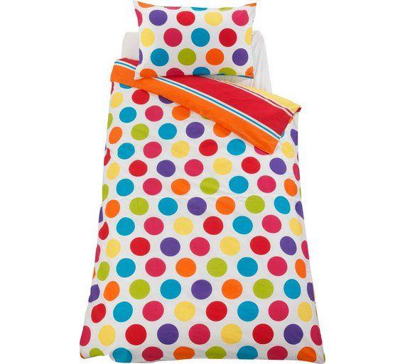 Buy ColourMatch Spot and Stripe Children's Bedding Set - Single at Argos.co.uk, visit Argos.co.uk to shop online for Children's bedding sets, Bedding, Home and garden