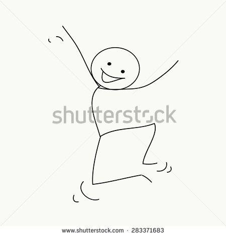 Stock Images similar to ID 331595438 - stick figure celebration jump