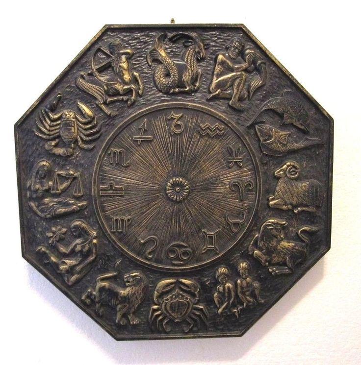 Mid Century Zodiac Medallion Wall Plaque Syroco Atstrology
