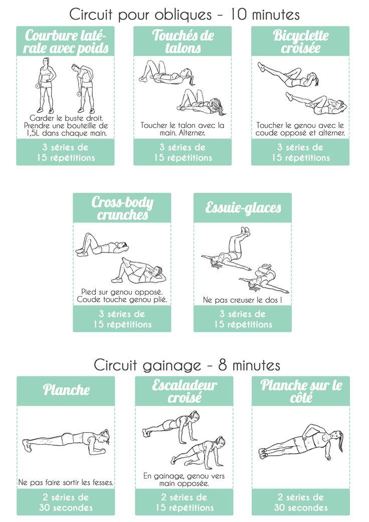 Les 25 meilleures id es de la cat gorie abdos obliques sur for Abdo fessiers exercices a la maison