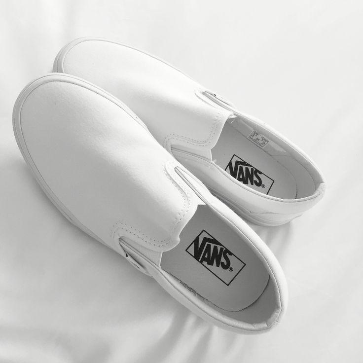 white slip on vans