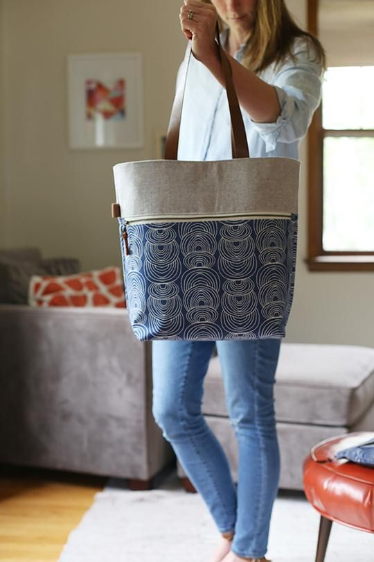 Note: This is a digital (PDF) sewing pattern. Caravan Tote & Pouch!A useful and sturdy tote with lots of great organized storage. You'll be ready to go whenever life calls. Cute coordinating zippered pouch included! A special thank you to Heather at .House. of A La Mode for collaborating with me on this project! S
