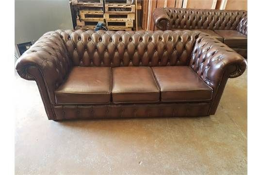 Low Back Leather Sofa Chesterfield