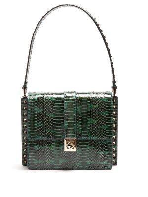 Rockstud-embellished snakeskin bag  | Valentino | MATCHESFASHION.COM UK