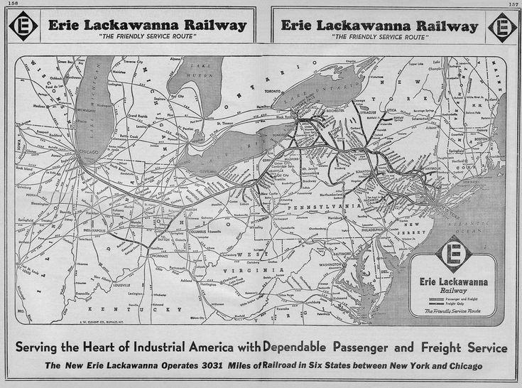the erie lackawanna railway was formed through the erie and lackawanna railroads in it was hit hard by the pc collapse and soon after massive flooding