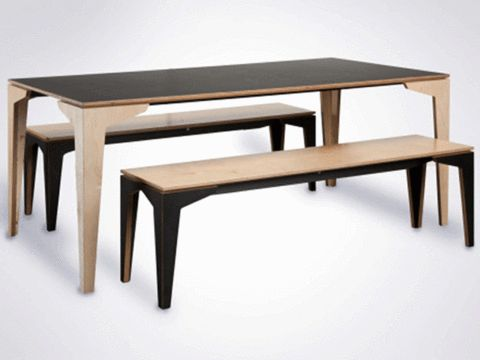 Floating Dining Table Black 2.2x1.1