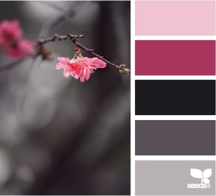 Board says pink on grey - I see birth from death.