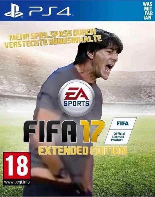 Joachim Loew z ręką w spodniach czyli rozszerzona edycja Fify z Joachimem Loewem • Wyjątkowa edycja Fifa 17 • Wejdź i zobacz mem >> #memes #fifa #low #football #soccer #sports #pilkanozna