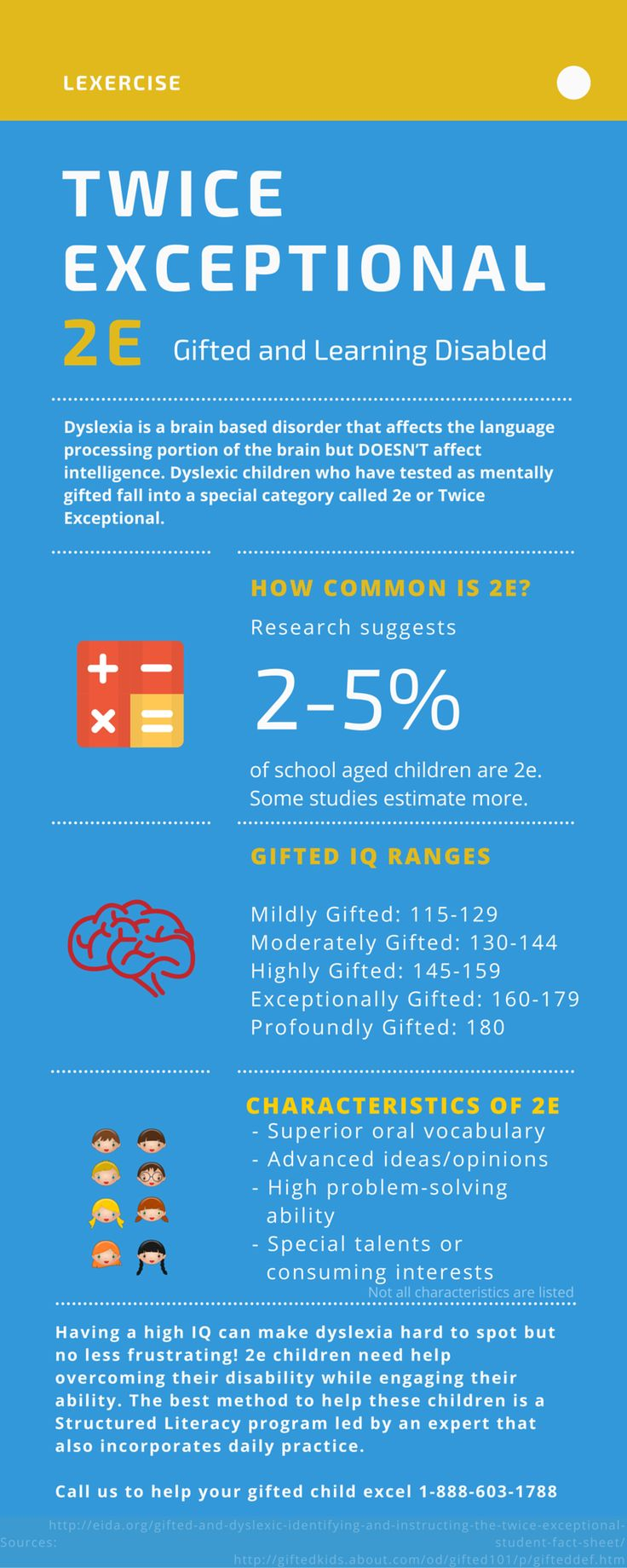 An awesome infographic about twice exceptional children
