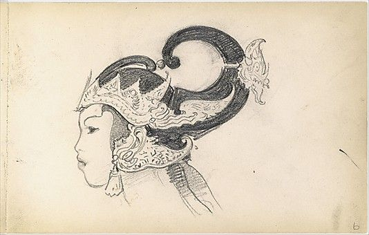John Singer Sargent (American, 1856–1925). Head of a Javanese Dancer in Profile (from Sketchbook of Javanese Dancers), 1889. The Metropolitan Museum of Art, New York. Gift of Mrs. Francis Ormond, 1950 (50.130.149b) #dance