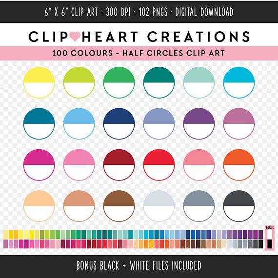 100 Half Circle Clipart Commercial Use Instant Download Png Etsy Circle Clipart Digital Clip Art Clip Art