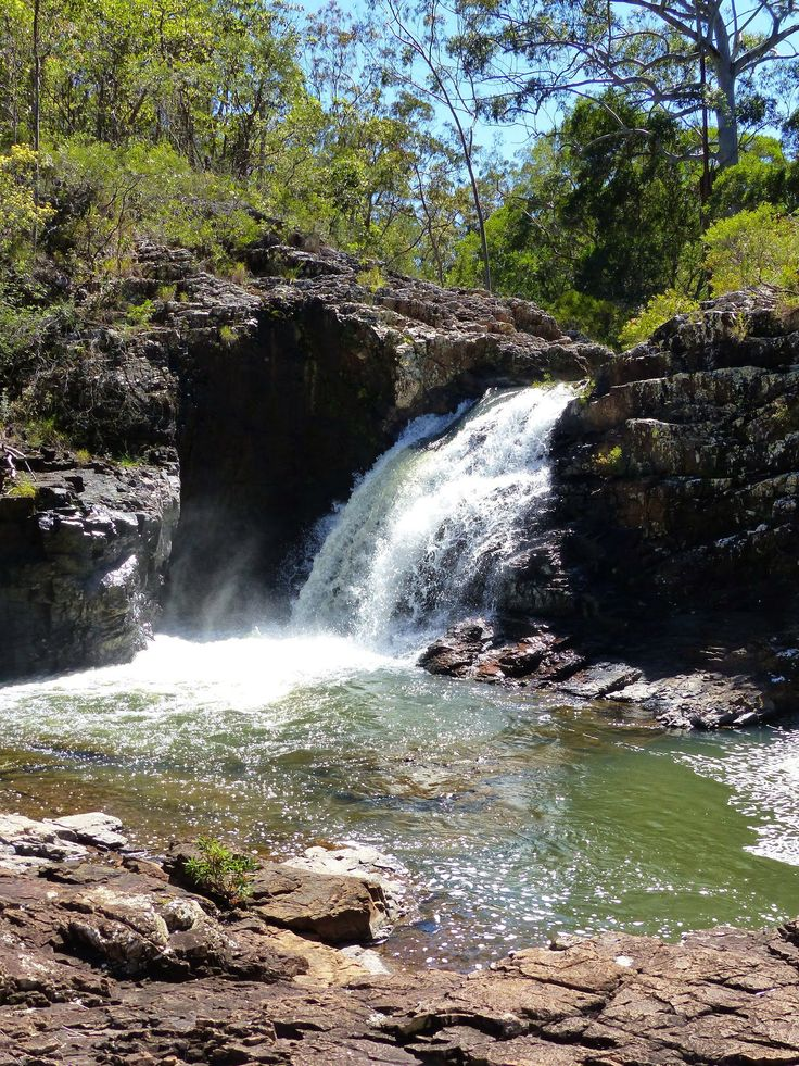 Part of McKenzie falls. Tumoulin state forest