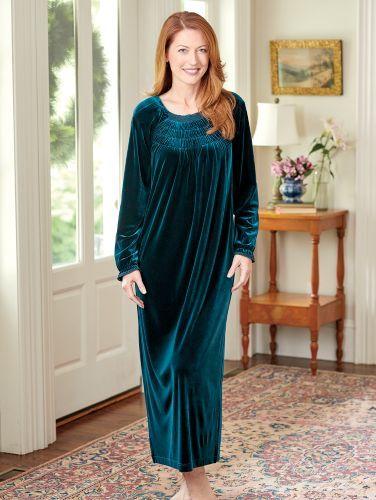 db2de1cbe Ella Simone Velvet Touch Nightgown