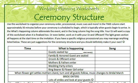 wedding planning worksheets wedding planner and guide