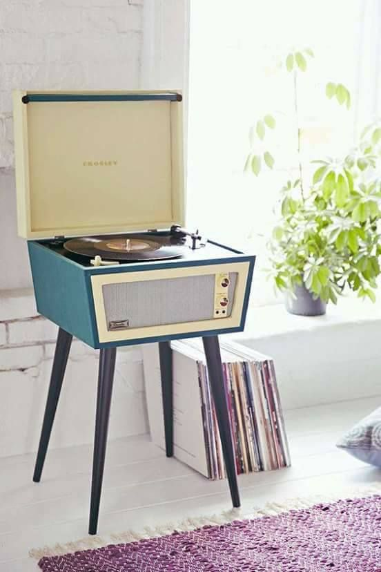 Vintage 1960s record player LOVE LOVE LOVE