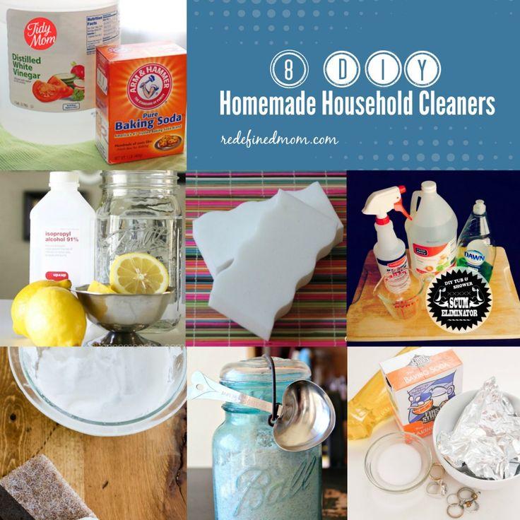 8 DIY Homemade Household Cleaners