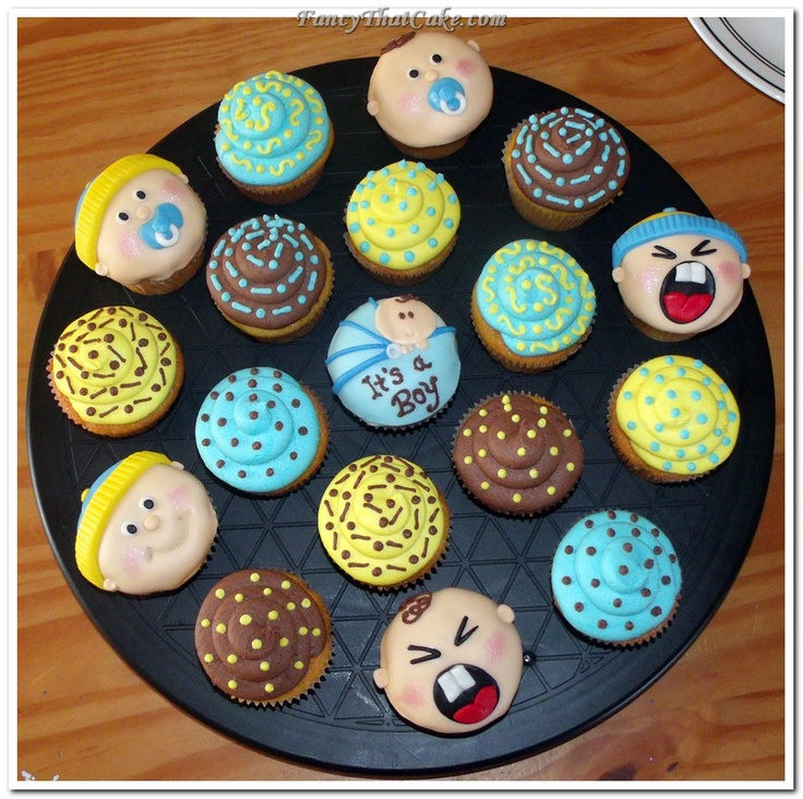 baby shower cupcakes for boys   Baby Boy Baby Shower Cupcakes