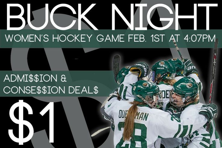 The BSU women's hockey team is back in town this weekend to host Minnesota Duluth. Join us Saturday at 4:07 p.m. for a National Girls and Women in Sports celebration. Tickets for the game are just $1 and there will be $1 concession stand deals. Stick around after the game to meet your favorite BSU players.
