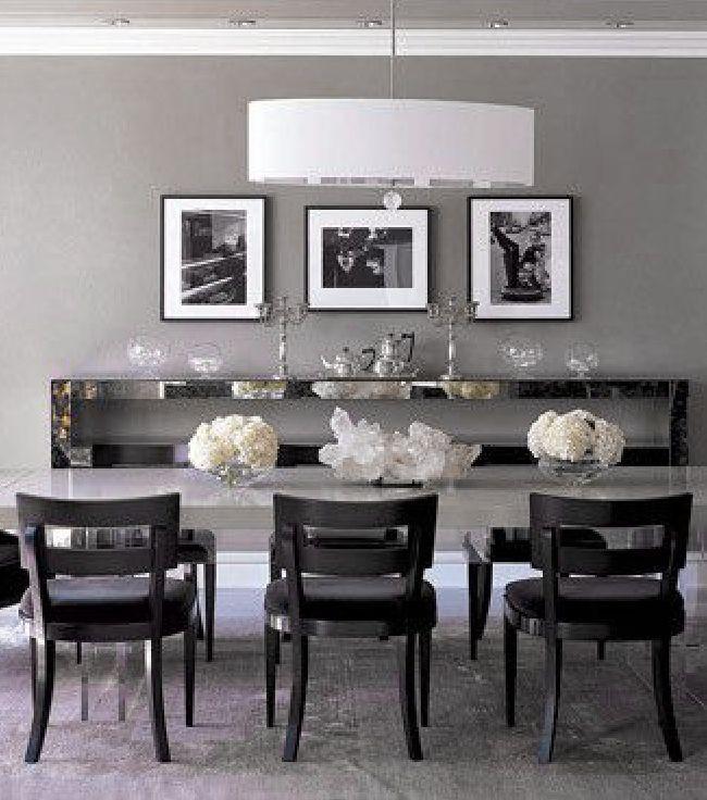monique lhuillier elle decor   Dove Gray Home Decor ♅ Monique Lhullier's grey dining room in ...