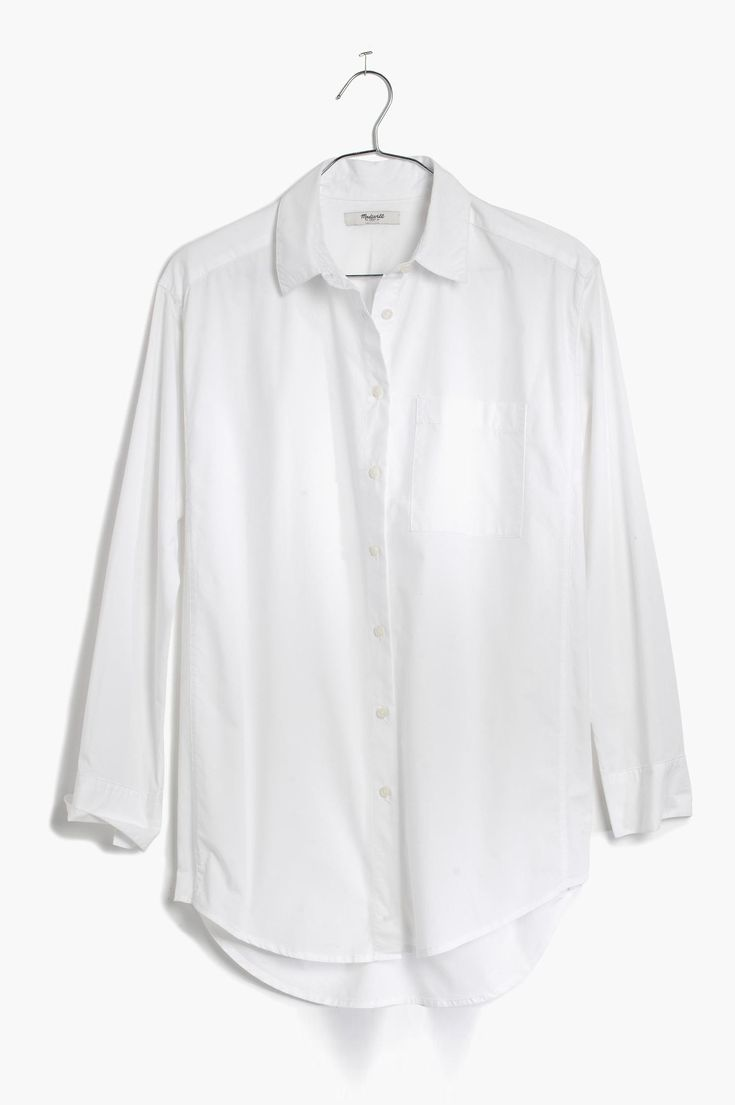 Button-Up Shirt: MadewellWhy It'A Best Buy: In machine-washable, 100% cotton, this bright-white button-up