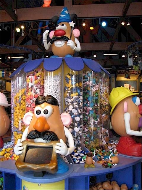 Potato Head Fun at Downtown Disney... I think we have all the potato pieces but I just can't resist going and filling a box! It's so fun