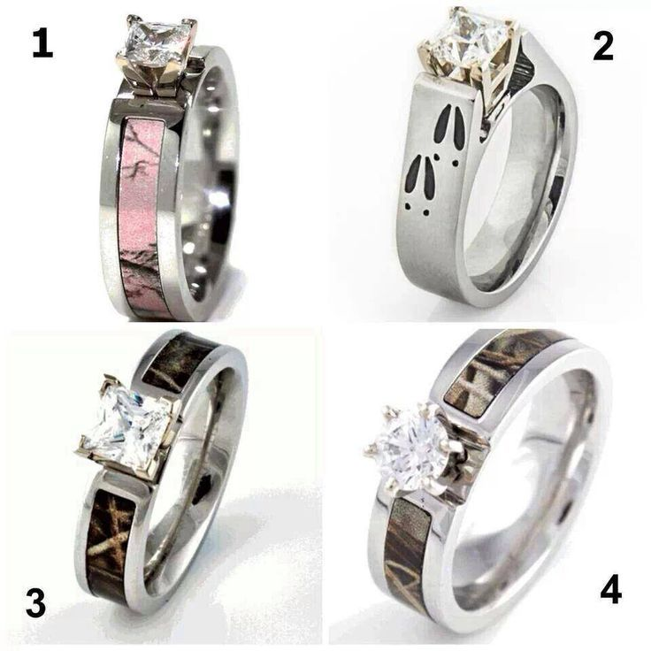 camo rings for him and wedding ideas