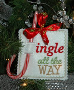 In The Hoop :: Candy & Treat Holders :: Holiday Candy Cane Holders - Embroidery Garden In the Hoop Machine Embroidery Designs