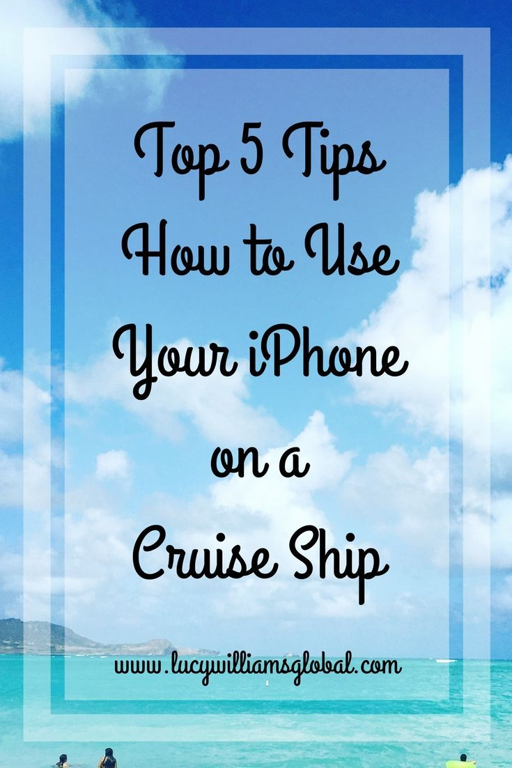 Top 5 Tips How to Use Your iPhone on a Cruise Ship - Have you ever gone on a cruise and wondered why your iPhone is not working the same way it does at home? Here I am going to tell you my top 5 tips on how to use your iPhone on a cruise ship #iphonetips #cruisetips #cruiseshiptips #iphone